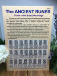 The Ancient Runes  (A5 chart)