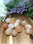 Peach Selenite Tumble Stones