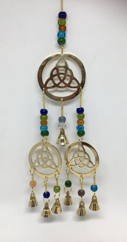 3 Hanging Brass Triquetras