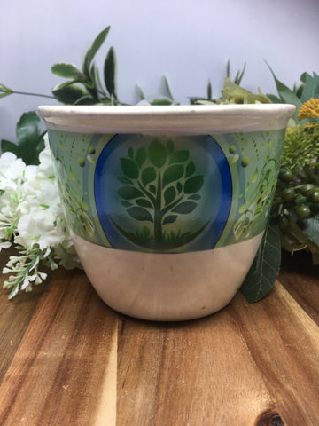 Ceramic Smudge Bowl - Tree Of Life (large)