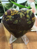 Calligraphy Jasper Heart # 356 - 50mm