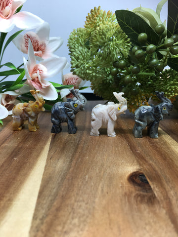 Elephant Soapstone Carving