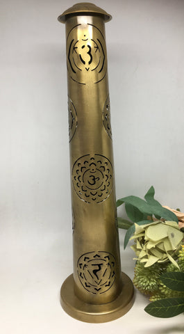 7 Chakra Metal Incense Tower 33cm x 9cm
