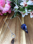 Sodalite Faceted Pendulum