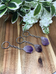 Natural Amethyst Point Key Ring