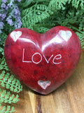 Soapstone Engraved Hearts 55mm