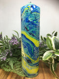 Marbled Pillar Candle