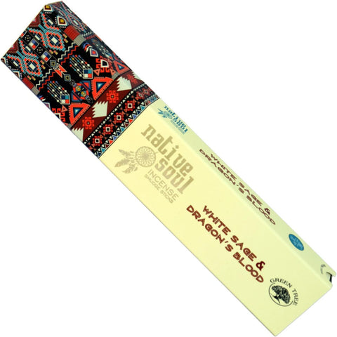 NATIVE SOUL White Sage & Dragon's Blood Incense 15g