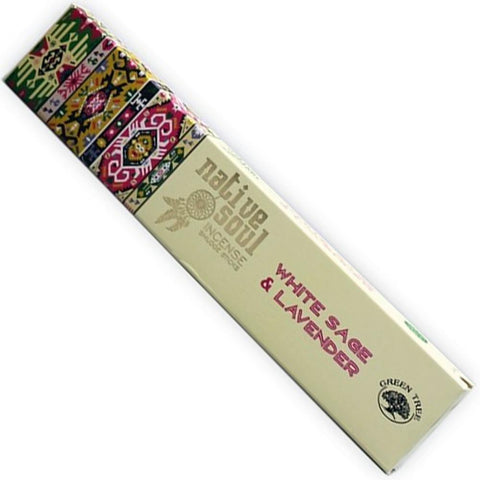 NATIVE SOUL White Sage & Lavender Incense 15g