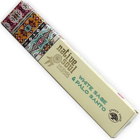 NATIVE SOUL White Sage & Palo Santo Incense 15g