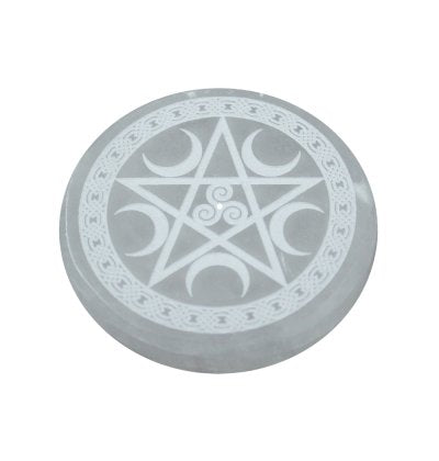 Pentacle Selenite Incense Burner