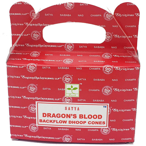 SATYA Dragon's Blood Backflow Dhoop Cones