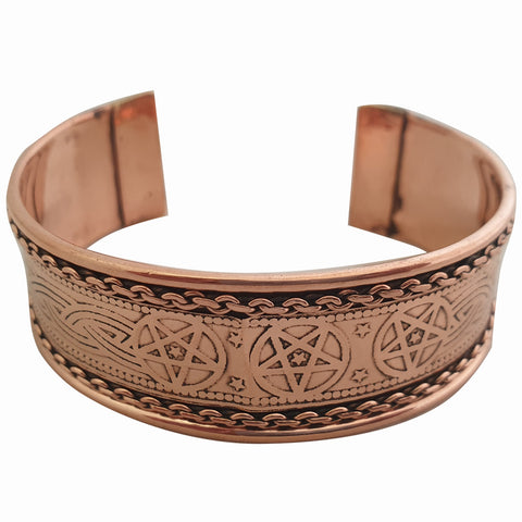Pentagram Copper Bracelet
