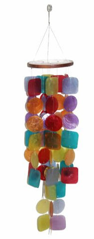 Capiz Rainbow Windchime