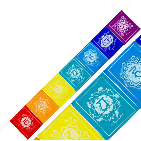 Tibetan Chakra Prayer Flags