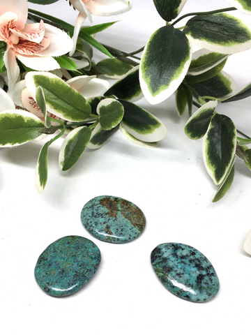 Africian Turquoise Flat Stone