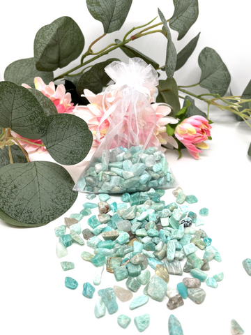 Amazonite Crystal Chips - 100g