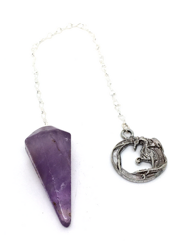 Amethyst with Dragon Pendulum
