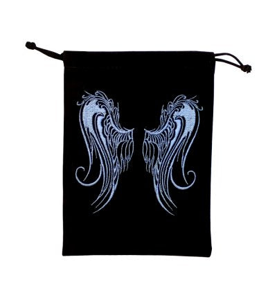 Angel Wings Black Velvet Pouch