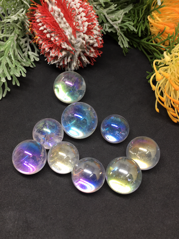 Angel Aura Quartz Mini Spheres - 20mm to 28mm