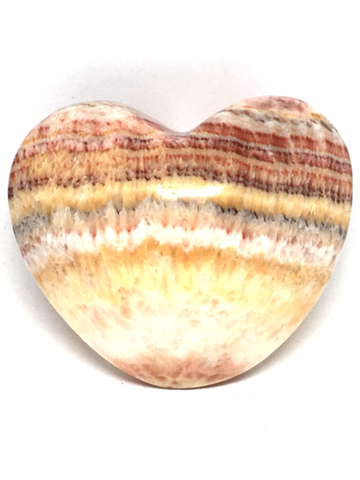 Banded Calcite (Aztec) Puff Heart # 219 - 6cm