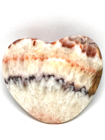 Banded Calcite (Aztec) Puff Heart # 221 - 6.3cm