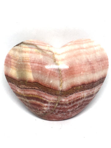 Banded Calcite (Aztec) Puff Heart # 222 - 6cm