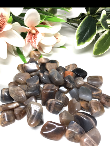 Moonstone Black Tumble Stones