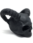 Black Obsidian Horned Skull