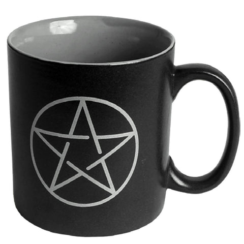 Pentacle Ceramic Black Mug