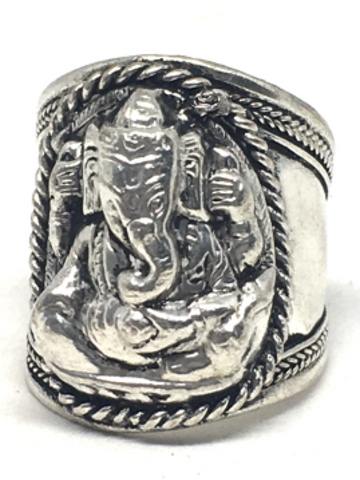 Ganesh Brass Ring - Adjustable