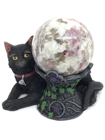 Cosmo Wiccan Cat Crystal Ball Holder