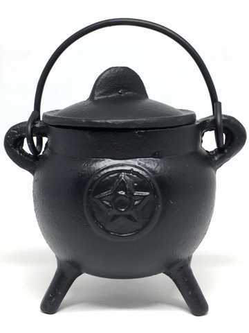 Cast Iron Pentacle Cauldron 11cm