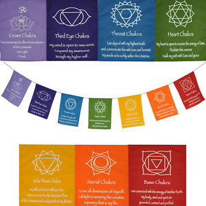 Chakra Prayer Flag - small