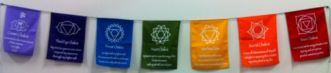 Chakra Prayer Flags - Large