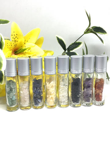 Essential Oils Crystal Roller Bottles - 10ml