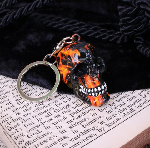 Inferno Skull Key Ring