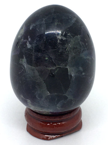 Fluorite Egg #266 (Stand included)