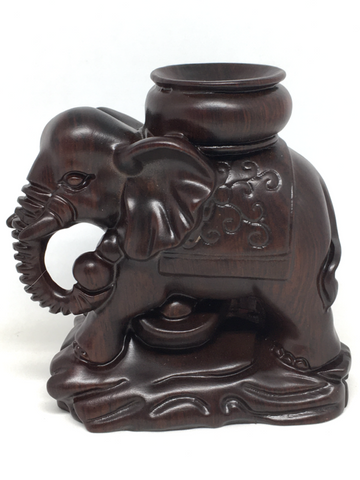 Wooden Elephant Sphere Stand