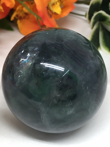 Green Fluorite Sphere # 135 - 55mm