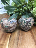 Green Leopard Skin Jasper Heart 45mm