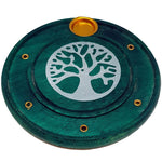 Green Wooden Tree Of Life Incense Holder 10cm