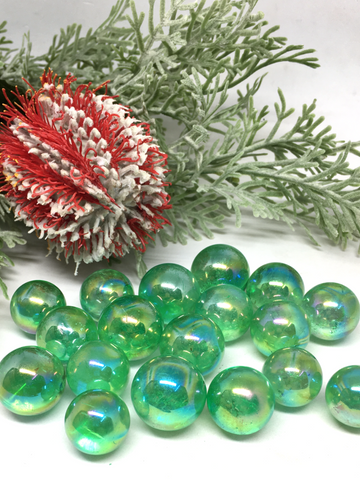 Apple Aura (Green) Quartz Mini Spheres - 19mm to 23mm