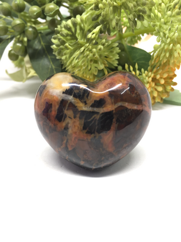 Harlequin Jasper Puff Heart # 40 - 45mm