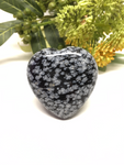 Snowflake Obsidian Puff Heart # 487 - 50mm
