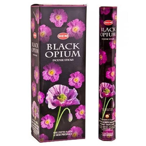 HEM Black Opium Incense Sticks
