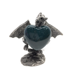 Moss Agate Puff Heart - 30mm