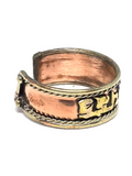 OM Mani Padme Hum Adjustable Copper Ring