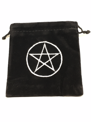 Pentacle Velvet Drawstring Bag 10cm x 10cm