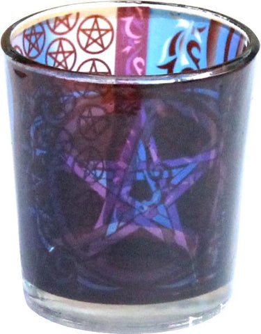 Pentacle Printed Glass Votive